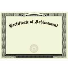 blank certificate background vector