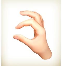 Hand vector