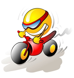 Funny bike rider vector
