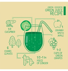 Green goddess green juice recipes great detoxify vector