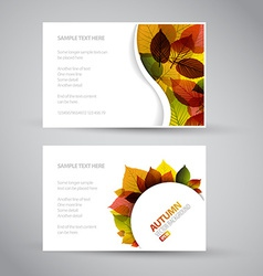 Fresh natural fall banners vector