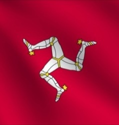 Isle of man flag vector