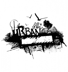 Grunge urban design vector