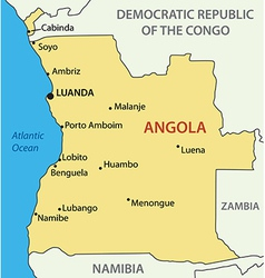 Republic of angola - map vector