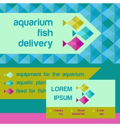 Logo and identification shop aquarium fish vector