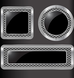Set of abstract metal background vector