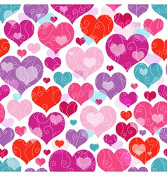 Seamless vivid valentine pattern vector