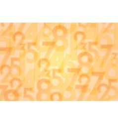 Numbers orange background vector
