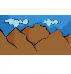 Cartoon mountain vector