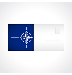 Envelope with flag of nato card vector
