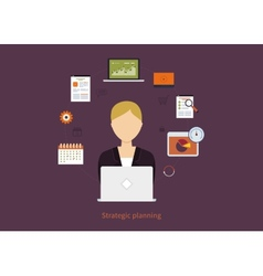 Concept of consulting services project management vector