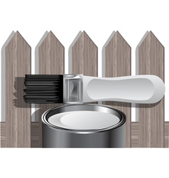 Painting fence vector