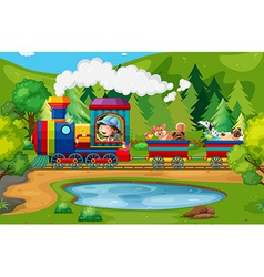 Train and nature vector