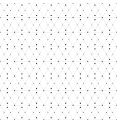 Dotted seamless pattern with rhombus and nodes vector