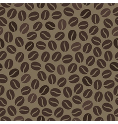 Seamless wallpaper pattern with coffee beans vector