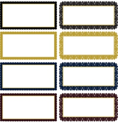 ornate decorative frame set vector