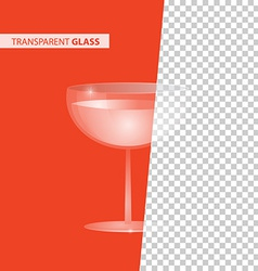 Transparent glass vector