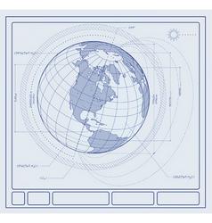 Blueprint earth vector