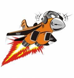 Crazy jet vector