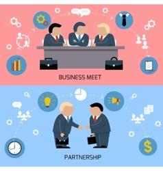 Concept of business meeting teamwork partnership vector