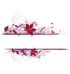 Decorative background with violet flowers vector