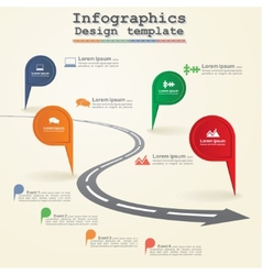 Road infographic timeline element layout vector