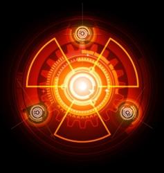 Radioactive techno gears vector