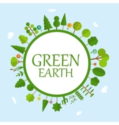 Green earth concept natural vector