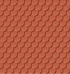 Clay roof tiles vector