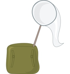 Net and satchel vector