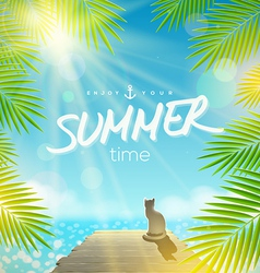Summer holidays design vector