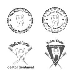 Medical center dental treatment vector