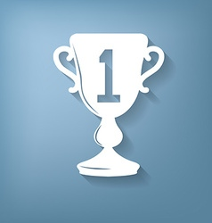 Cup for first place icon vector