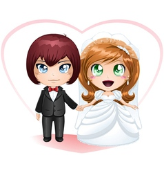 Bride and groom getting married 2 vector