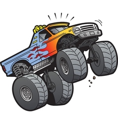 Monster truck jumping vector