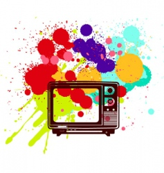 Colorful television vector