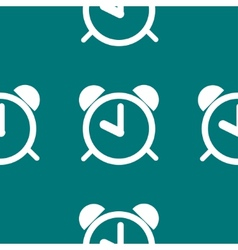 Alarm clock web icon flat design seamless pattern vector