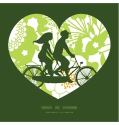 Green and golden garden silhouettes couple on vector