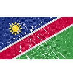 Flag of namibia with old texture vector