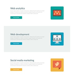 Website headers or promotion banners templates and vector