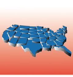 Map of united states puzzle vector