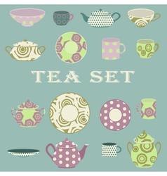 Tee set vector