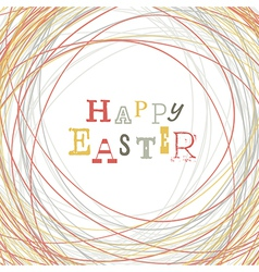 Easter greeting card nest symbolic vector