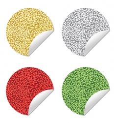 Glitter stickers vector