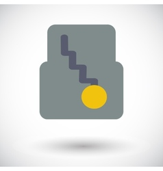 Icon automatic gear vector