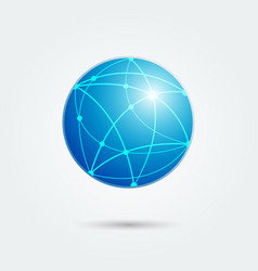 Global network emblem vector