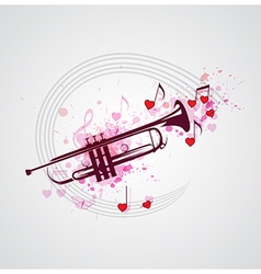 Music background with trumpet vector