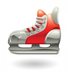 Ice skate illustration vector