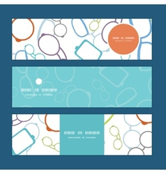 Colorful glasses horizontal banners set pattern vector