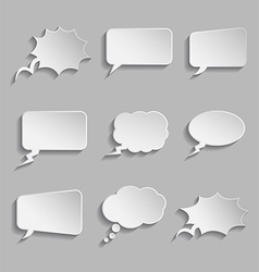 Collection of comic style thought bubbles - 3d vector